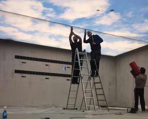 کارگاه یک روزه آموزش نصب سقف کشسان