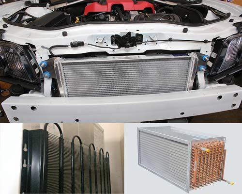 رادیاتور خودرو و کندانسور یخچال انتقال دهنده لوله فین دار