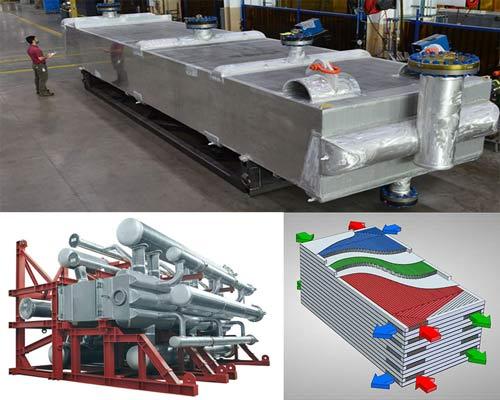 انتقال دهنده مبدل حرارتی صفحه فین دار صنعتی BAHXL