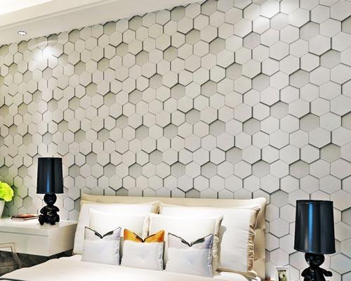 ایجاد دیدی زیبا و بعد دادن به فضا از طریق نصب کاغذ دیواری سه بعدی پشت چسب دار