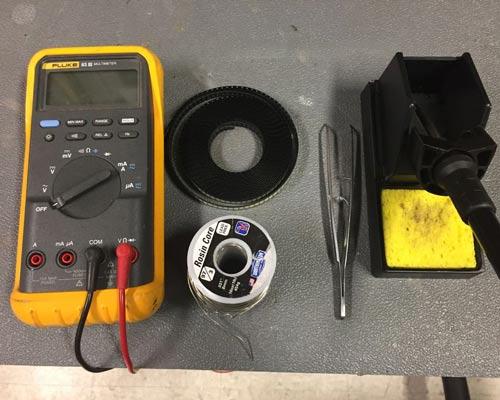 ابزار تعمیر هویه مولتی متر سیم لحیم انبرک چیپست ال ای دی