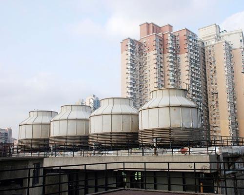 برج خنک کننده گالولنیزه ای 4 فلزی گرد سقف