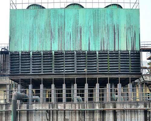 بج خنک کننده مکعبی گالوانیزه ای تشتک آب فن سبز