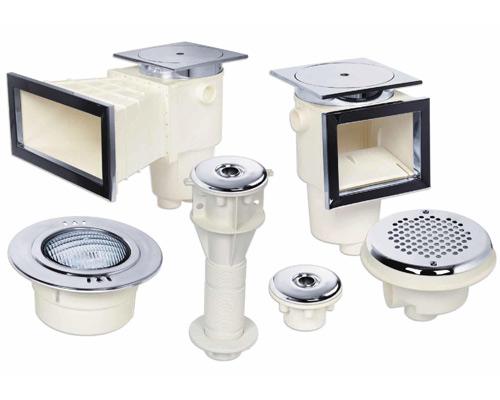 اسکیمر لامپ روشنایی نازل کفشور استخر سفید رنگ