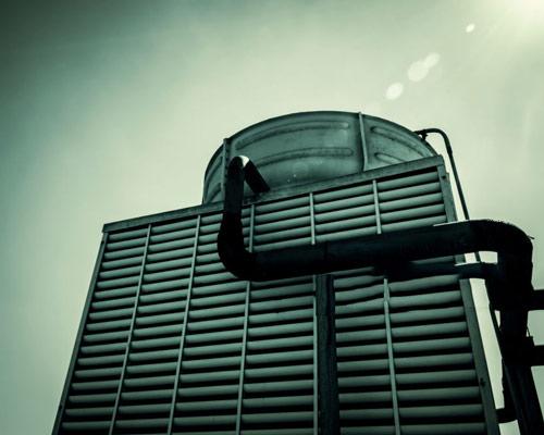 برج خنک کننده فلزی گالوانیزه فن هوای آزاد