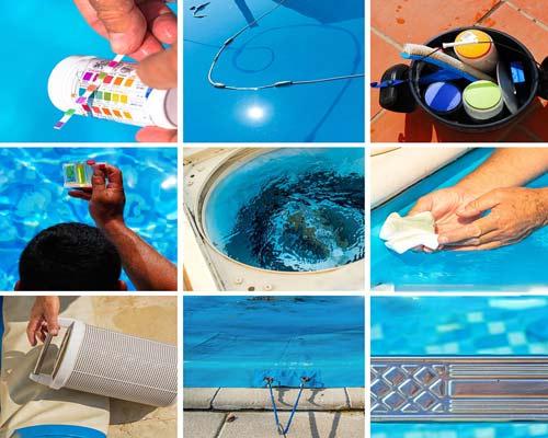 بررسی pH تعویض فیلتر کاور استخر تعمیر و نگهداری