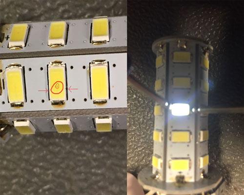 چیپ خراب سوخته LED