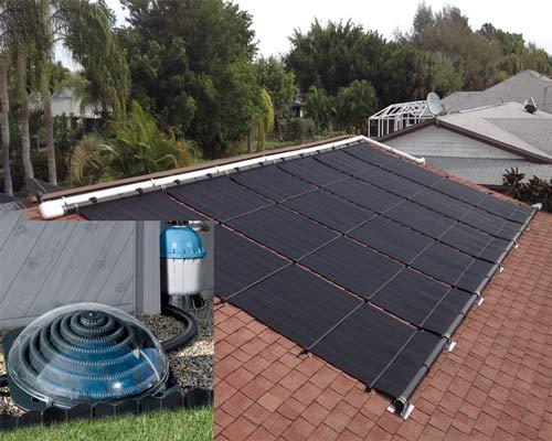 پنل خورشیدی کلکتور حرارتی روی پشت بام