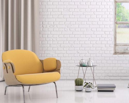 آجر سفید داخلی از انواع آجر رنگی