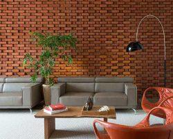 بکار رفتن آجر دکوراتیو در دیوار ساختمان و استفاده از مزیت زیبایی آجر