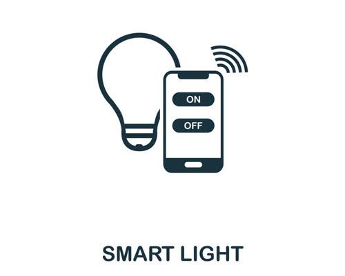 سیستم هوشمند روشنایی بی ام اس لامپ تلفن همراه روشن خاموش سفید امواج