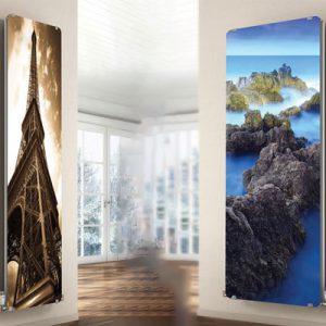 رادیاتور دیواری طرح برج ایفل و صخره