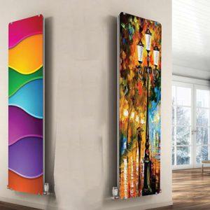 رادیاتور ورتیکال طرح هفت رنگ و طرح پاییز