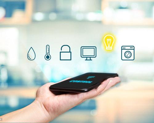 تلفن همراه موبایل وای فای کنترل دما سنج آب امنیت قفل لامپ روشن زرد ماشین لباسشویی