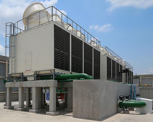 برج خنک کننده فایبرگلاس صنعتی کنترل تهویه