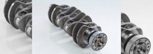 نمای سه بعدی میل لنگ موتور دیزلی
