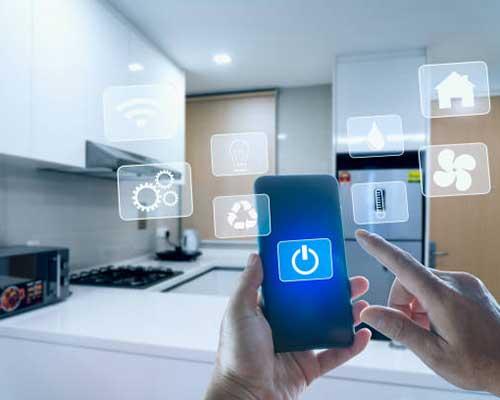 عملکرد ترموستات وای فای هوشمند با گوشی آبی و اجاق گاز