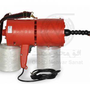 دستگاه قرمز رنگ فنرزن برقی براي سیم کشی آسان ساختمان