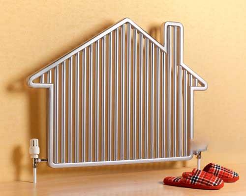 رادیاتور گرمایشی به شکل خانه به عنوان تجهیز گرمایشی ساختمان