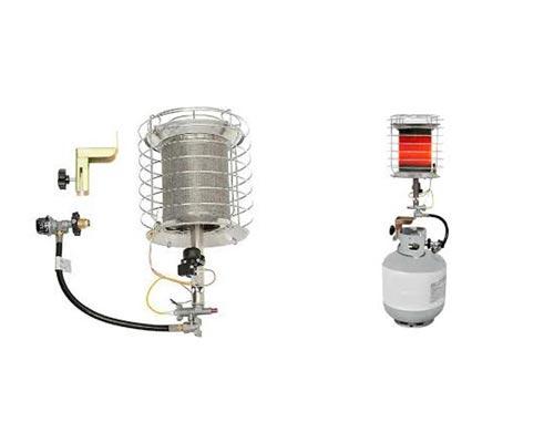 تجهیزات تابشی قابل حمل و اجزای سازنده هیتر تابشی قابل حمل نشان داده شده است