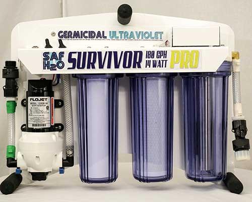 دستگاه تصفیه آب پرتابل خانگی به رنگ آبی