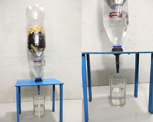 دستگاه فیلتر آب خانگی ساخته شده در خانه