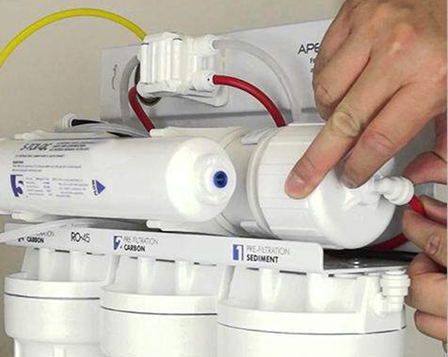 نمایش نحوه نصب دستگاه تصفیه آب