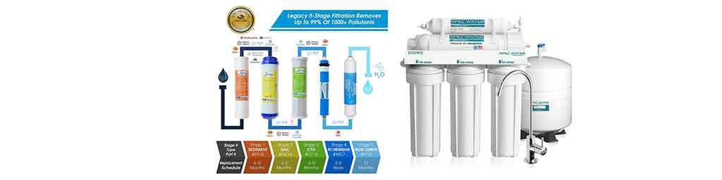 نمایش کامل ویژگی های یک دستگاه تصفیه آب